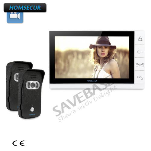 HOMSECUR 9 Video Door Entry Security Intercom+Ultra-large Screen Monitor 2C1M homsecur 9 video door entry security intercom ultra large screen monitor 2c1m