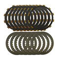 motorcycle parts A set steel plates & CLUTCH plates Friction Discs for honda cbr1000 04-07