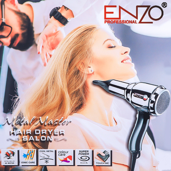 ENZO 8000W Professional Hair Dryer Diffuser Powerful Blow Dryer Brush AC Motor All Metal Strong Wind Barber Salon Tools Nozzle 1