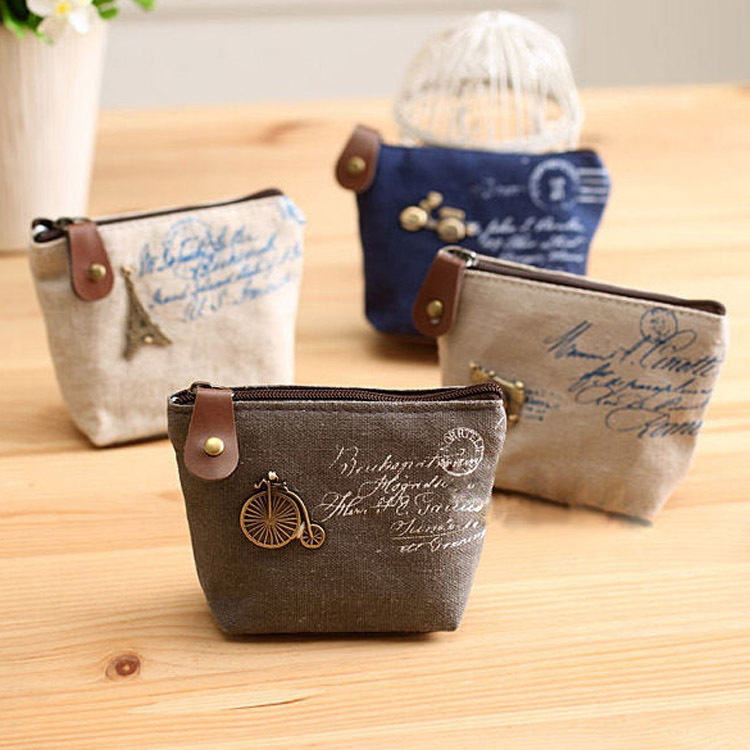 Canvas Classic Retro Ladies Small Change Coin Purse Little Key Card Pouch Money Bag Girl  Mini Short Coin Holder Wallet пиала аликанте 10 5 см карт уп 1049311