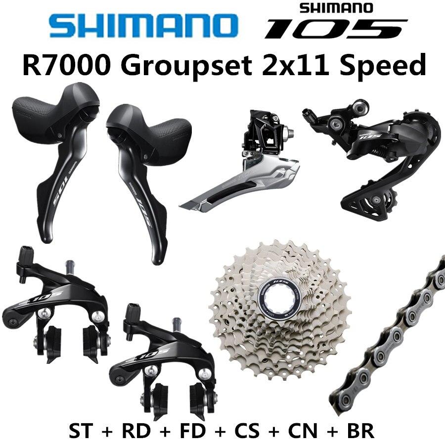 シマノ 5800 R7000 グループセット 105 R7000 ディレイラー道路自転車 ST + FD + RD + CS + CN フロントリアディレイラー SS GS 12 25T 11 28T 11 32T  グループ上の スポーツ & エンターテイメント からの 自転車変速装置 の中 1