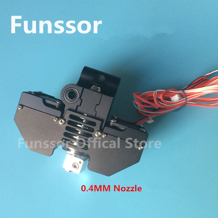 Funssor Ultimaker2+ V5 single nozzle extruder kit all metal print head hot end kit funssor diy ultimaker 2 print head kit 3 d printer 0 4mm nozzle hot end assembly kit with 1 meter bowden tube