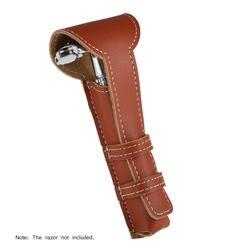 Держатель для бритвенных станков из воловьей кожи, ручная бритва, сумка для безопасности, Классическая Двусторонняя бритва, кожаный чехол
