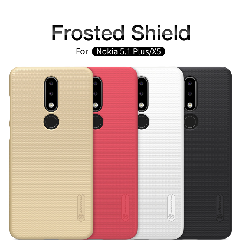 Nokia 5.1 Plus Case Nokia X5 Case 2018 NILLKIN Super Frosted Shield Phone Case with Retail packaging For Nokia 5.1 Plus & Gift