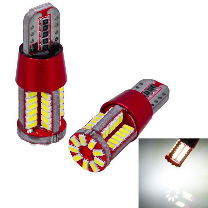 Auto T10 W5W 194 3014 15 W 6000 K led voiture ampoules 57-smd Light-Emitting Diodes Indépendant Led Ampoule Aucune Erreur Univ ère Lampe 2 Pcs