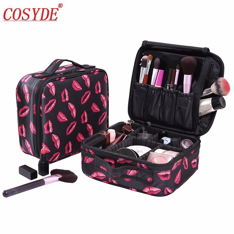 Women Makeup Bags Cosmetic Case Box Travel Organizer Large Capacity Professional Make Up Pouch Suitcase Brushes Storage Toolbox