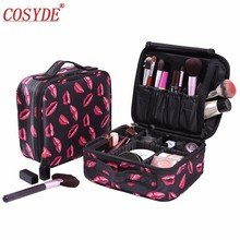 Women Makeup Bags Cosmetic Case Box Travel Organizer Large Capacity Professional Make Up Pouch Suitcase Brushes Storage Toolbox kundui suitcase women men travel bag thickening aluminum alloy laptop large toolbox lockable storage display box briefcase