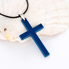 Christian Jesus Single Titanium Cross Pendants Necklaces Women Stainless Gold Silver Black Prayer Choker Link Chain Men Jewelry brand new vintage christian holy bible necklaces pendants for women retro gold jesus necklace men cross prayer jewelry gift