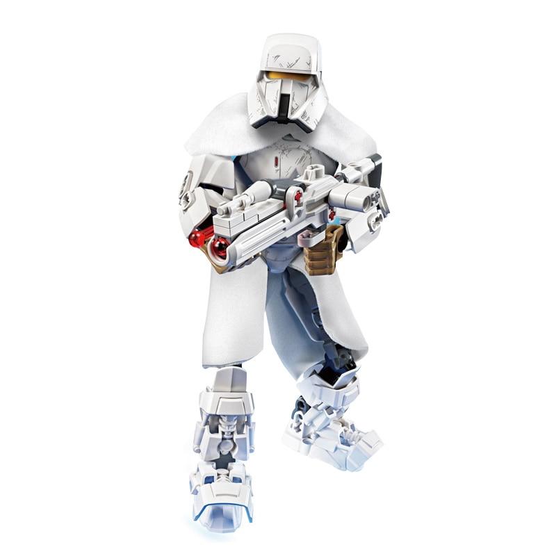 Звездные войны сборная фигура строительный блок Штурмовик Дарт Вейдер Kylo Ren Chewbacca Boba Jango Фетт фигурка игрушка для детей - Цвет: Range Trooper