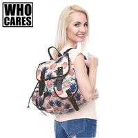 PINEAPLE PASTEL COLOUR Printing Leather Backpack Vintage Backpack 2016 Who Cares Fashion New Mochila School Bags