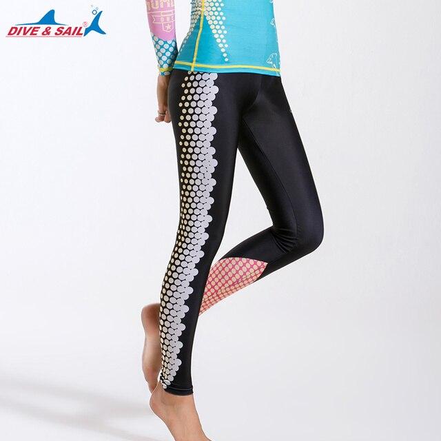 ce9fdfa70 Women's Long Swimming Pants Swim Tights Elastic Leggings UPF 50+ Swim Pants  High Waisted Surfing Leggings