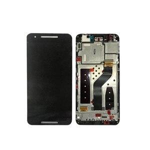 """Image 4 - 5.7 """"m & sen para huawei google nexus 6p tela lcd + painel de toque digitador com moldura para google nexus 6p exibição"""