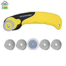 28mm Rotary Cutter with 5PC Blades Fit Olfa Dafa Fiskars Fabric Paper Circular Cut Patchwork Craft Leather DIY Sewing Tool