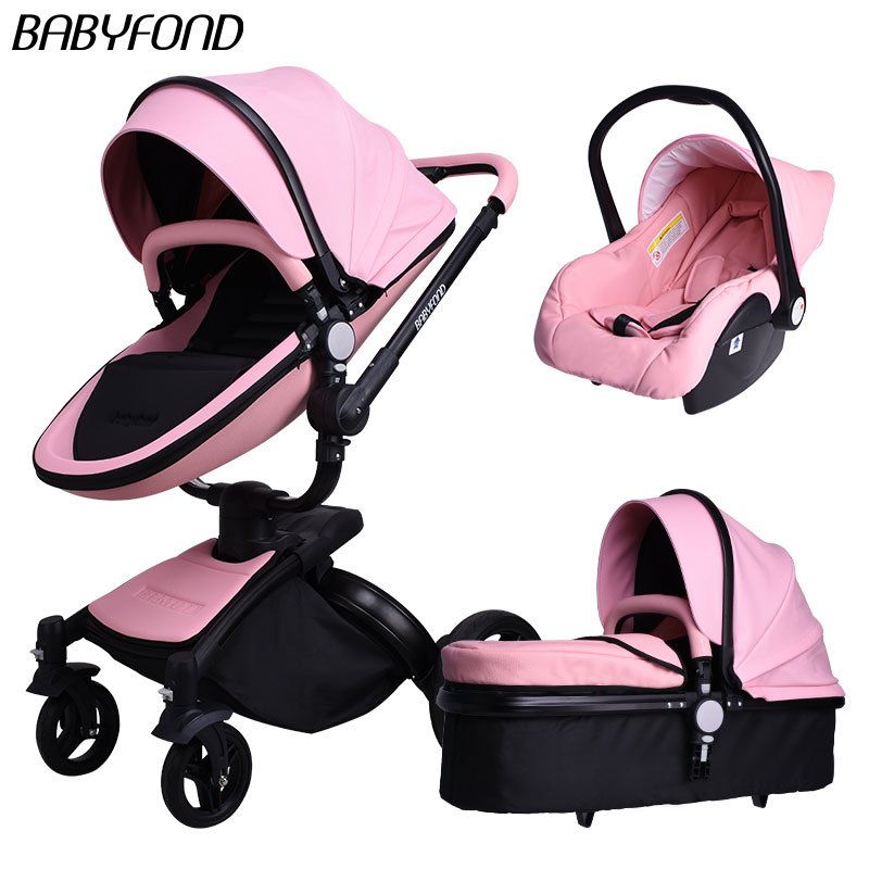 European Baby Strollers Hk Free !brand Baby Strollers Carriage Pram Light Car Eu Export Leather 0-3 Years 5 Colors Free Gifts цены