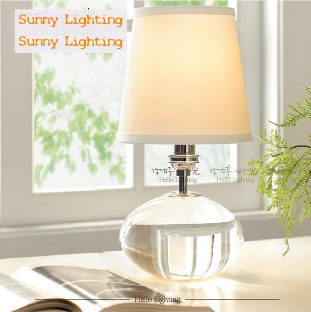Large Crystal Ball Wedding Table Lamp White Shade Christmas Commemorative Edition Lights Abajur