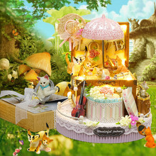 Cute Families House Miniature Dollhouse Toys Candy Cat DIY House Home Decoration Accessories Kids Toys Juguetes Brinquedos недорого