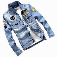 NEW Men's Denim Jacket high quality fashion Jeans Jackets Slim fit casual Mens jean clothing