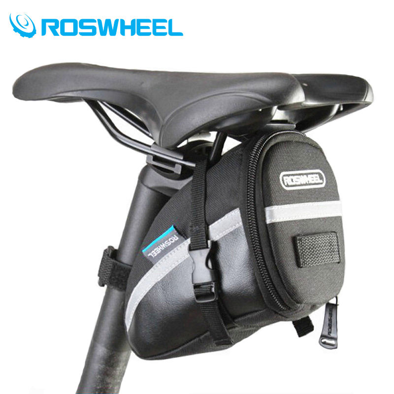 ROSWHEEL 1.2L Portable Waterproof Bike Saddle Bag Cycling Seat Pouch Bicycle Tail Rear Pannier allenjoy easter basket butterfly photography backdrops spring photography background photo studio background