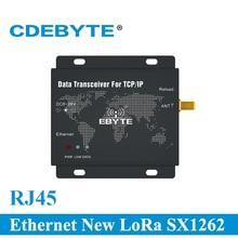E90 DTU (900SL30 ETH) RJ45 Ethernet חדש לורה SX1262 30dBm 1W 915MHz TCP UDP יציאה טורית אלחוטי משדר מודם