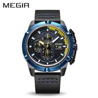 MEGIR Men Quartz Sport Watch Relogio Masculino Chronograph Military Army Watches Clock Men Top Brand Luxury