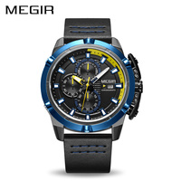MEGIR Men Quartz Sport Watch Relogio Masculino Chronograph Military Army Watches Clock Men Top Brand Luxury