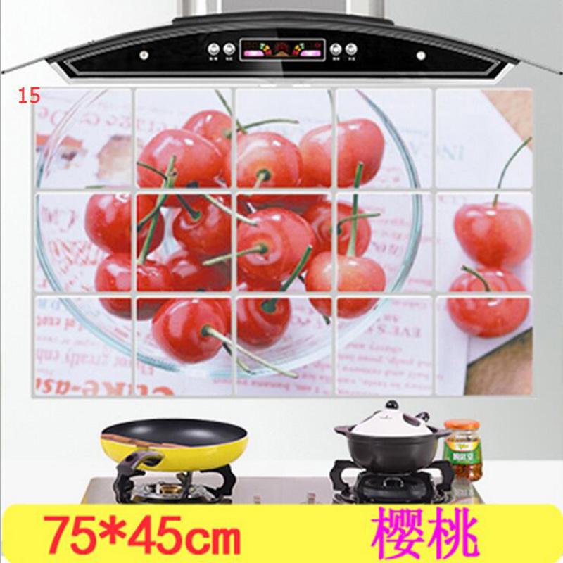 HTB1lXB.OXXXXXbVXXXXq6xXFXXXB - kitchen Anti-smoke Decorative wall sticker Resistant to high aluminum foil tiles cabinet