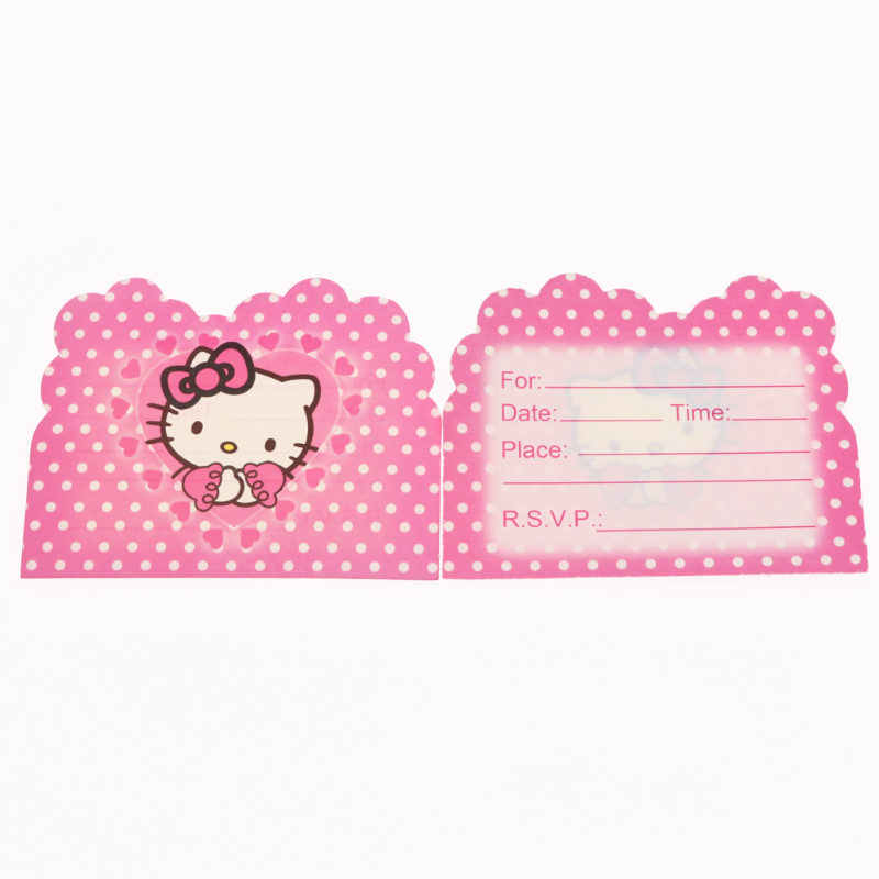 Detail Feedback Questions About 10pcs Hello Kitty Invitation Card