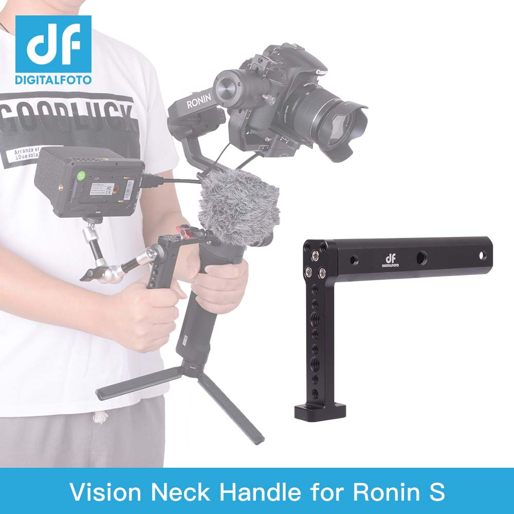 DIGITALFOTO VISION Gimbal Accessories Neck Extension Handle Connect LED Light/monitor/Mic For DJI RONIN SC / S Feiyu Crane 2