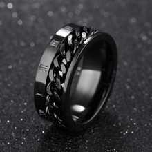 EDC Finger Fidget Spinner из нержавеющей стали цепь вращающееся кольцо мужское классическое римское цифровое чувство силы подарок