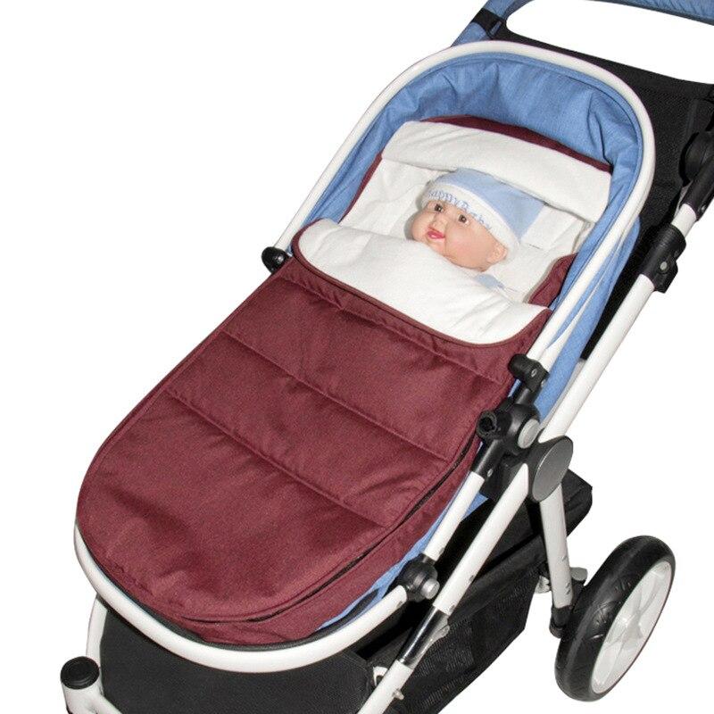 Universal Baby Stroller Accessories Sleeping Bag Socks Foot Cover Windproof Warm Sleeping Bag baby stroller foot cover baby sleeping bag newborn warm cotton sleeping bag trolley dedicated