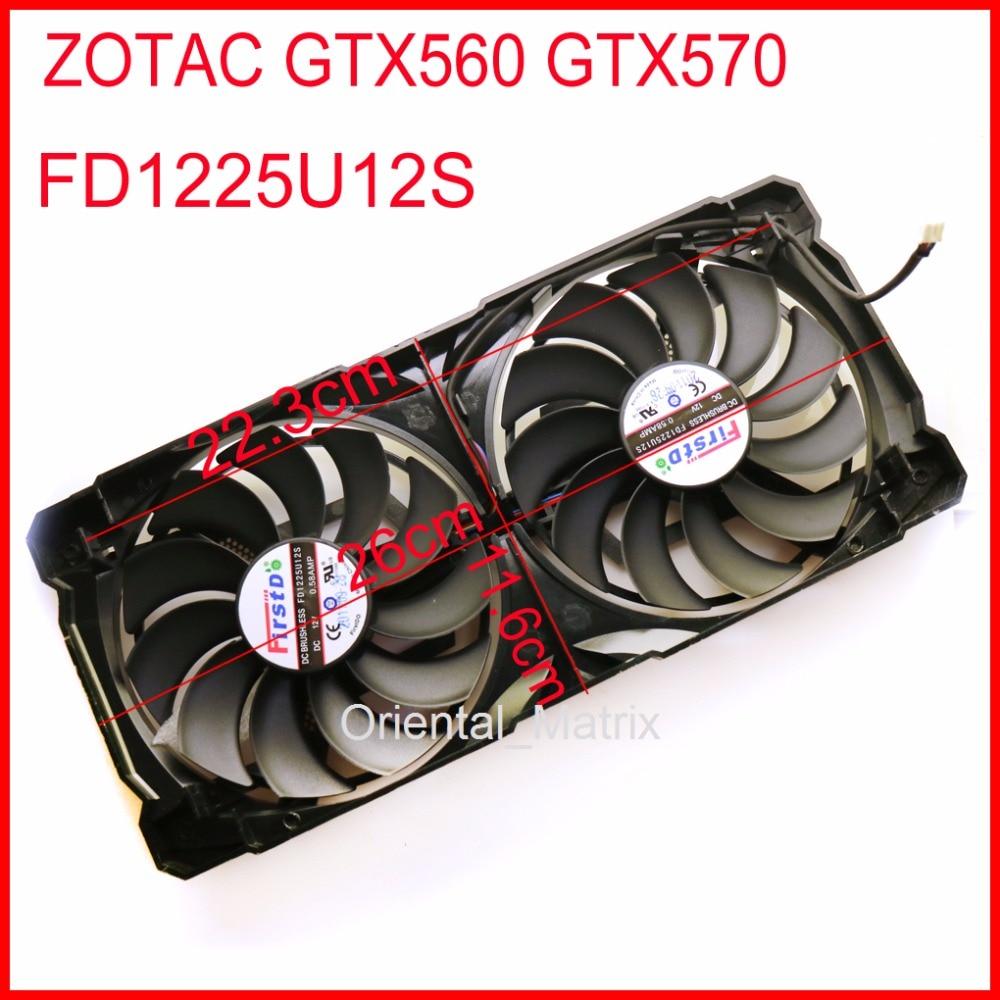 Free Shipping FD1225U12S 110mm 12V 0.58A 4Pin For ZOTAC GTX560 GTX570 Graphics Card Cooling Fan free shipping pla09215s12m 87mm 42x42x42mm dc12v 0 35a for msi r7 250 1gd5 oc graphics card cooling fan 3wire 4pin