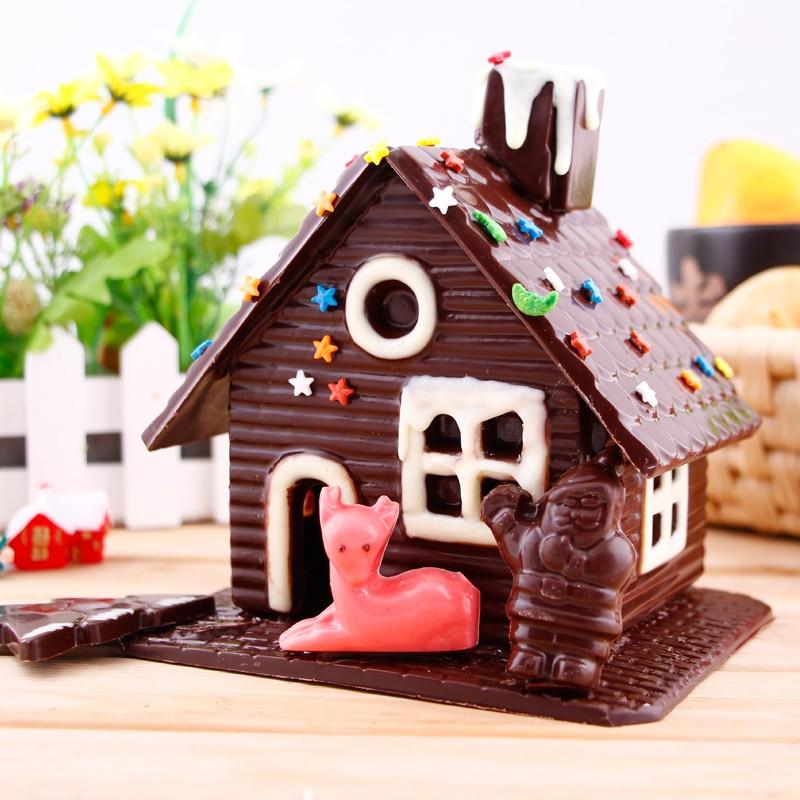 Tri-dimensionale myk shtëpi çokollate / kasolle çokollate / - Kuzhinë, ngrënie dhe bar