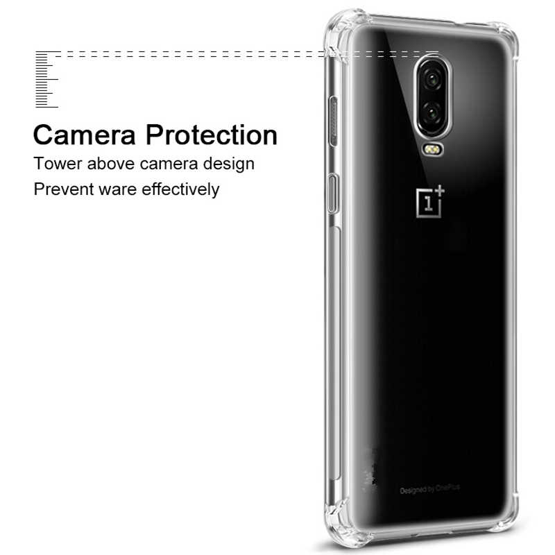 quality design bcf29 1d145 For Oneplus 6T Case One plus 6 Case Transparent Soft Case Oneplus 3 3T 5 5T  OnePlus 6 Oneplus6 Silicone Back Cover Phone Case
