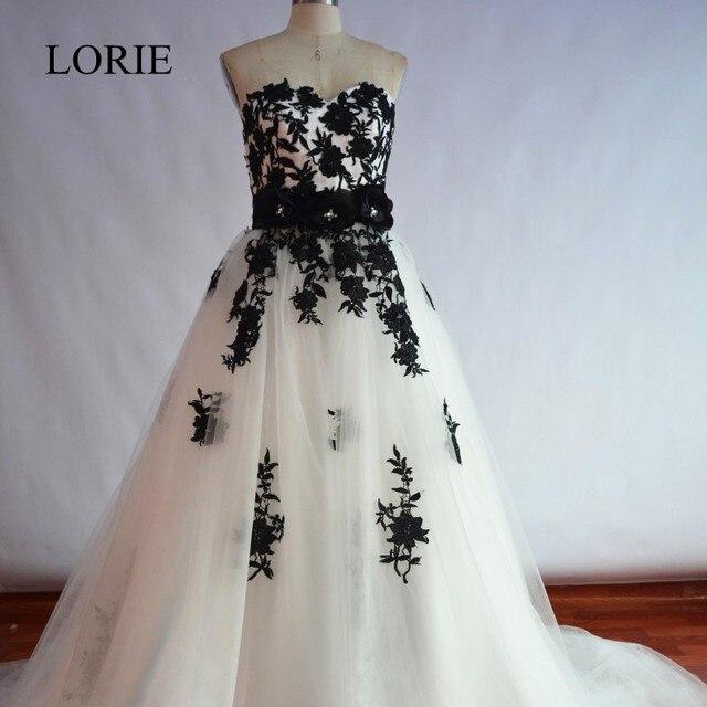 Vestidos De Novia 2018 White And Black Wedding Gowns Dresses