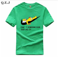 Q E J 2017 New Fashion Men T Shirt Summer Cotton O Neck Letter Print Tees