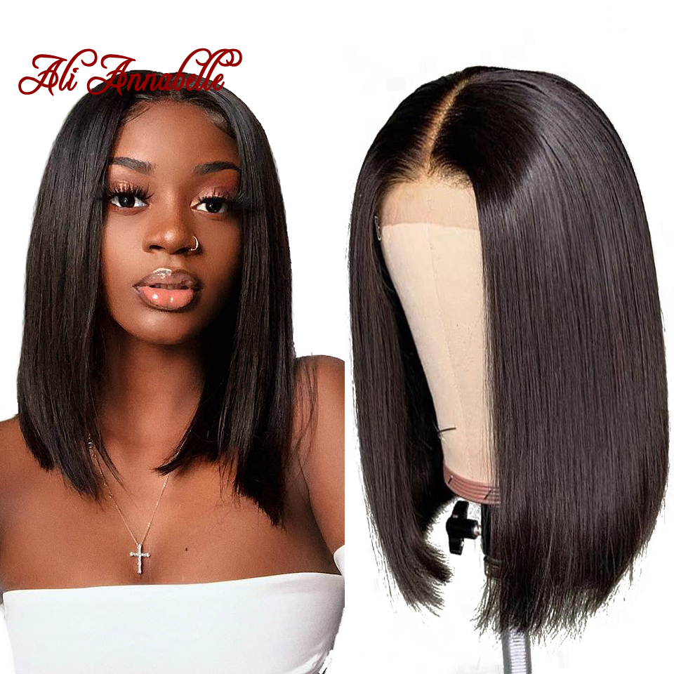 Peruvian Straight Lace Front Human Hair Wig 13 4 Straight Short Bob Lace Front Wigs Natural