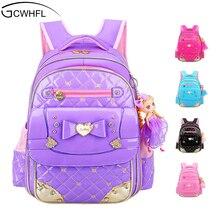 GCWHFL Koreanische Art-mädchens Schultaschen Rucksäcke Kinder Schultaschen Für Mädchen Rucksack Prinzessin Kinder Buch Schultaschen Rucksack