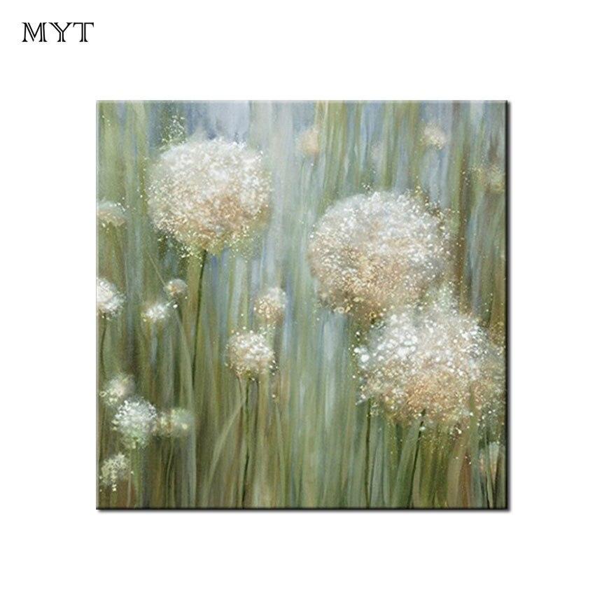 CEST Pissenlit Fleurs Photos Main qualité supérieure peinture à l'huile Sur Toile En Gros Unique Paysage Abstrait Peintures
