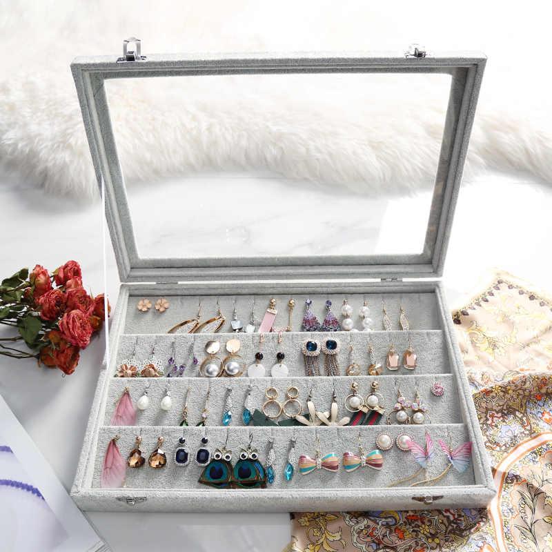 Luxe nouveau multifonction boîte à bijoux montre boîtier beau collier boîte rangement bijoux organisateur anneaux Bracelet boîte affichage cadeau