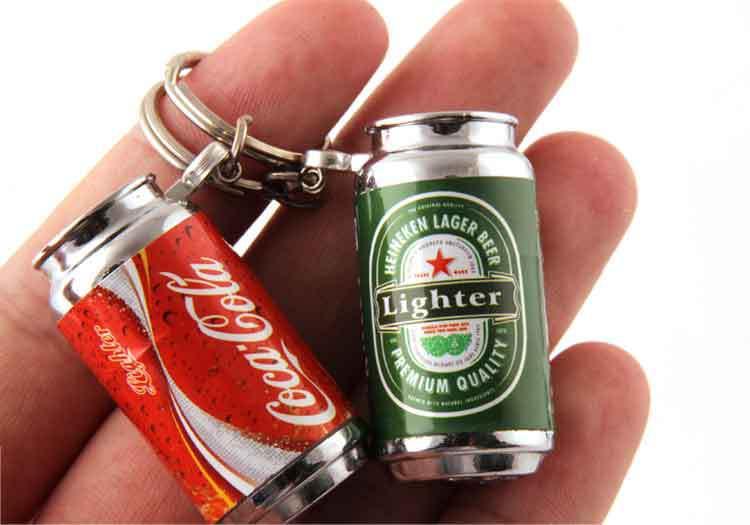 20 pcs/lot marque créative Cola Mini canettes suspendus allume cigare en gros astuce off (couleur aléatoire)-in Briquets from Maison & Animalerie    1