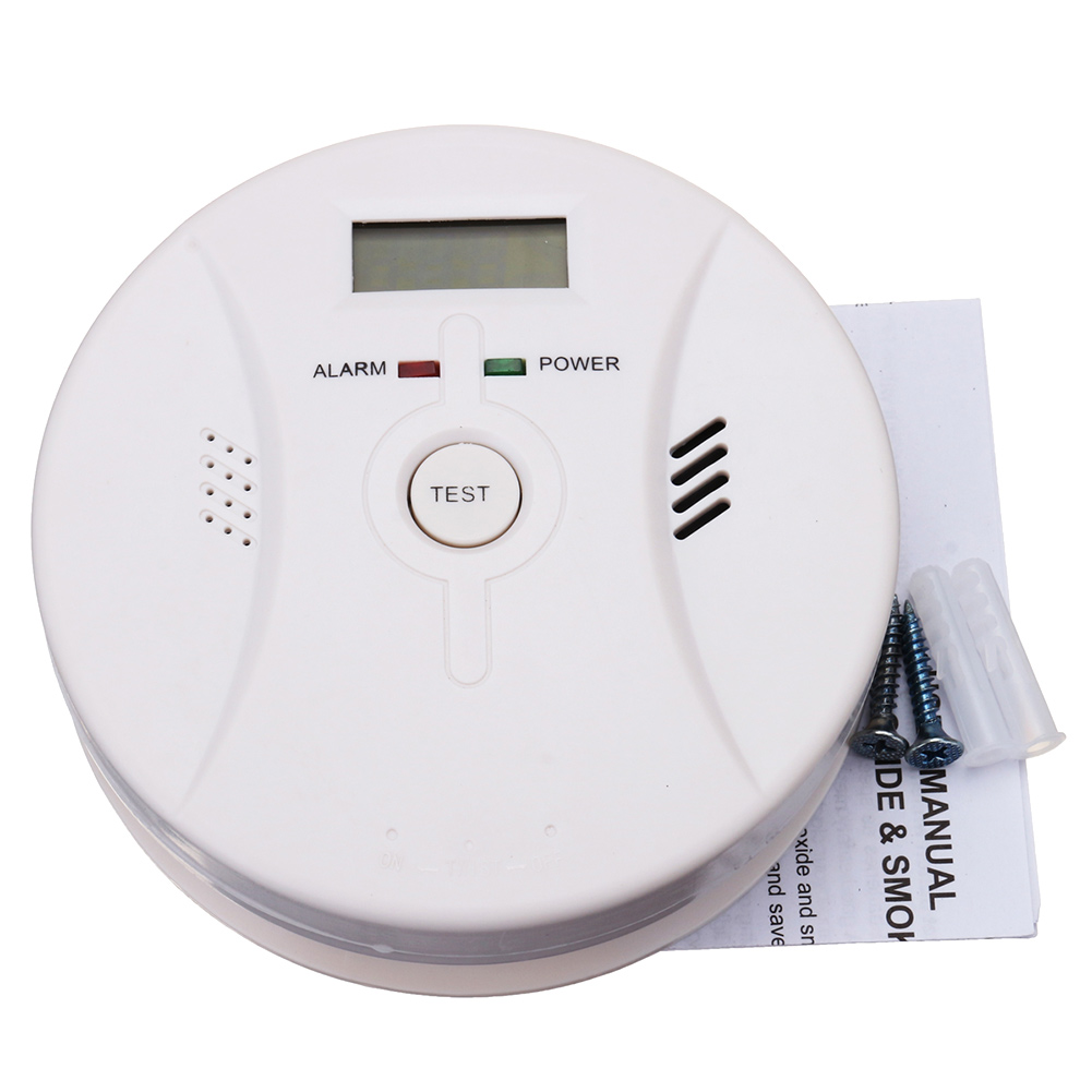 2 In 1 Combination Carbon Monoxide + Smoke Alarm Battery Operate CO & Smoke Detector LSMK99