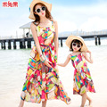 2016 Fashion summer beach Dress family clothes for mother and daughter  mommy and me clothes
