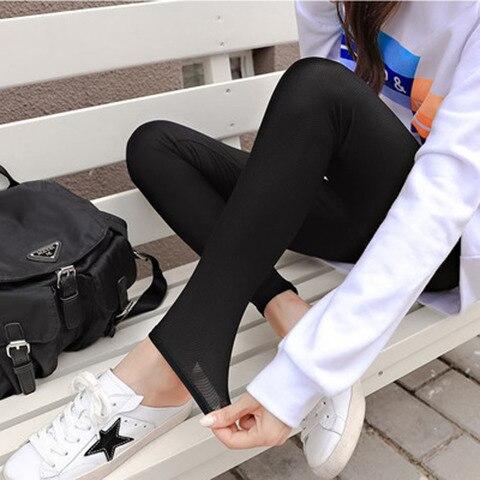 2019 Summer Thin Models Outer Wear Leggings Slim Was Thin Stretch Pants Big Yards Female Feet Pants Wild