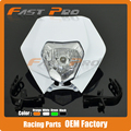 Motorcycle Dirt Bike Supermoto Universal Headlights Headlamp StreetFighter For CRF YZF WRF KXF KLX RMZ DRZ KTM EXC SMR Enduro