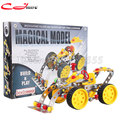 3D three-dimensional puzzle. DIY metal toys 816B-63 assembled large bulldozer. Alloy assembly blocks car Free shipping