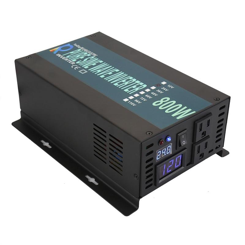 все цены на 800W Pure Sine Wave Power Inverter 12V/24V DC To 100V/110V/120V AC Solar Inverter 12V 220V Inverter 800W онлайн