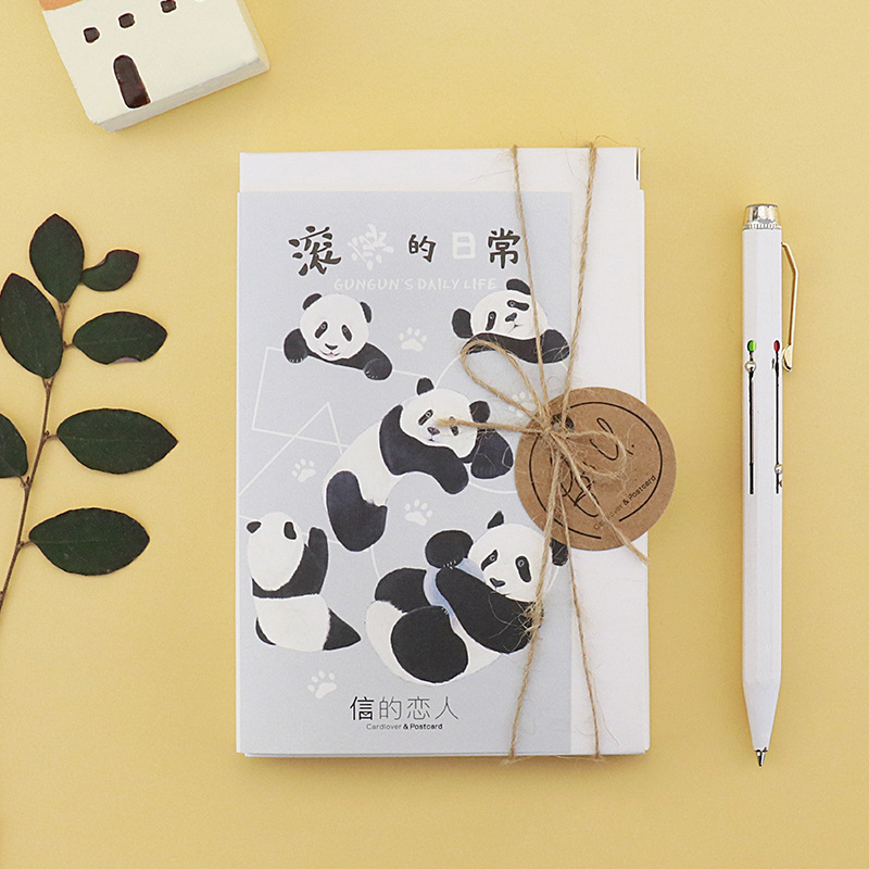 30 Sheets/Set Lovely Panda Daily Life Postcard /Greeting Card/Message Card/Birthday Letter Envelope Gift Card