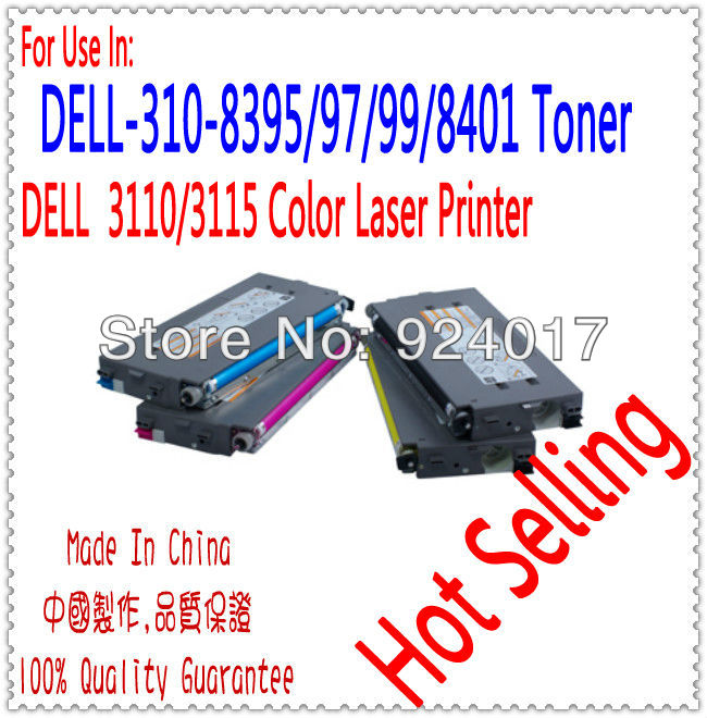 Compatible Dell 3115cn 3110cn 3110 3115 Color Printer Toner Cartridge,For Dell Laser Printer 3110 3115 Color Toner Cartridge compatible laser printer chip reset for dell 3130 toner cartridge chip