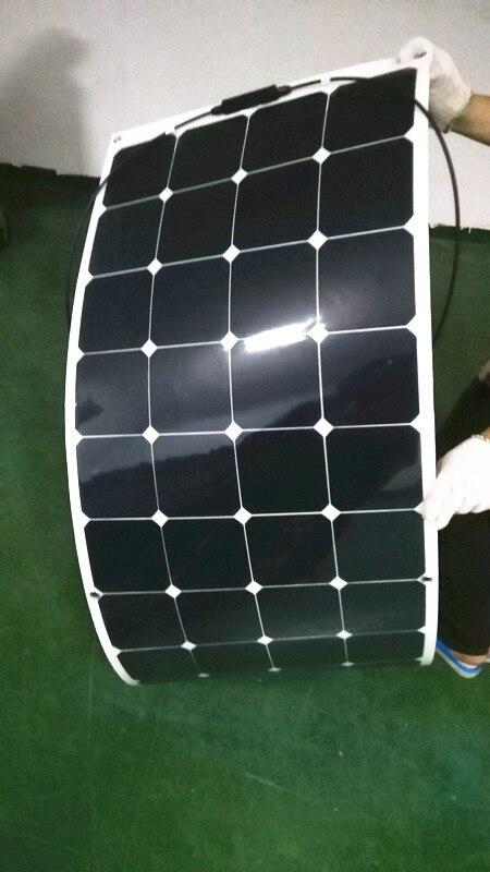 New100wソーラーパネル12ボルトソーラー充電器カーバッテリーsunpowerソーラー携帯柔軟なソーラーパネル -