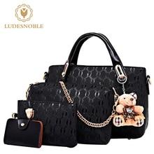 Ludesnoble сумки женщины известных брендов сумка женские кожаные сумки на ремне женские сумки комплект Bolsa feminina